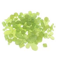 Gemischte Acrylperlen, Acryl, transluzent, grün, 6mm-43x47x6mm, Bohrung:ca. 1-5mm, ca. 200PCs/Tasche, verkauft von Tasche