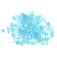 Transparente Acryl-Perlen, Acryl, transluzent, blau, 6mm-43x47x6mm, Bohrung:ca. 1-5mm, 200G/Tasche, verkauft von Tasche