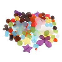 Gemischte Acrylperlen, Acryl, transluzent, 6mm-43x47x6mm, Bohrung:ca. 1-5mm, 200G/Tasche, verkauft von Tasche