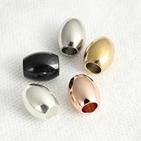 Edelstahl-Beads, Edelstahl, oval, plattiert, verschiedene Größen vorhanden, keine, verkauft von Menge