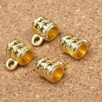 Zinklegierung Stiftöse Perlen, Zylinder, goldfarben plattiert, frei von Blei & Kadmium, 11x8x7mm, Bohrung:ca. 1.5mm, 5mm, 30PCs/Tasche, verkauft von Tasche