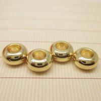 24K Gold Perlen, Messing, Trommel, 24 K vergoldet, verschiedene Größen vorhanden, frei von Blei & Kadmium, Bohrung:ca. 1-2mm, 10PCs/Tasche, verkauft von Tasche