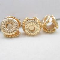 24K Gold Perlen, Messing, 24 K vergoldet, frei von Blei & Kadmium, 10x4mm, Bohrung:ca. 1-2mm, 10PCs/Tasche, verkauft von Tasche