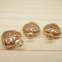 24K Gold Anhänger, Messing, Herz, 24 K vergoldet, hohl, frei von Blei & Kadmium, 9x12mm, Bohrung:ca. 1-2mm, 10PCs/Tasche, verkauft von Tasche