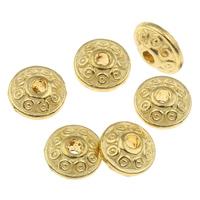 Zink Legierung Perlen Schmuck, Zinklegierung, Rondell, goldfarben plattiert, frei von Nickel, Blei & Kadmium, 6x3.5mm, Bohrung:ca. 1.5mm, ca. 2855PCs/kg, verkauft von kg