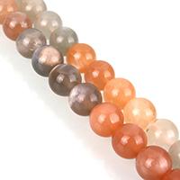 Mondstein Perlen, rund, verschiedene Größen vorhanden, Grade A, verkauft per ca. 15.5 ZollInch Strang