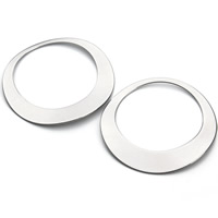 Edelstahl Verbindungsring, Kreisring, originale Farbe, 45mm, Bohrung:ca. 34mm, 10PCs/Tasche, verkauft von Tasche