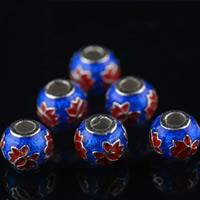 Cloisonne Perlen, Cloisonné, Trommel, handgemacht, 9mm, Bohrung:ca. 1mm, 10PCs/Tasche, verkauft von Tasche