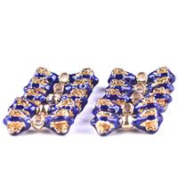 Cloisonne Perlen, Cloisonné, Schleife, handgemacht, 22x6mm, Bohrung:ca. 2mm, 10PCs/Tasche, verkauft von Tasche