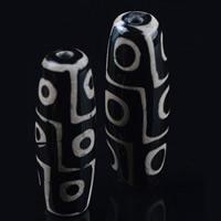 Zwei Ton Achat Perlen, Tibetan Achat, oval, natürlich, zweifarbig, 40x14mm, Bohrung:ca. 1-2mm, verkauft von PC