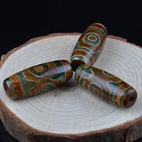 Zwei Ton Achat Perlen, Tibetan Achat, oval, natürlich, zweifarbig, 31x12mm, Bohrung:ca. 1-2mm, 2PCs/Tasche, verkauft von Tasche