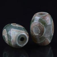 Zwei Ton Achat Perlen, Tibetan Achat, oval, natürlich, zweifarbig, 22x15mm, Bohrung:ca. 1-2mm, verkauft von PC