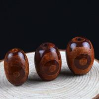 Zwei Ton Achat Perlen, Tibetan Achat, oval, natürlich, zweifarbig, 22x16mm, Bohrung:ca. 1-2mm, 2PCs/Tasche, verkauft von Tasche