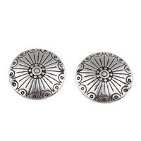 Zinklegierung flache Perlen, flache Runde, antik silberfarben plattiert, frei von Blei & Kadmium, 18x5mm, Bohrung:ca. 1mm, 100G/Tasche, verkauft von Tasche