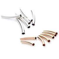 Messing Rohr Perlen, plattiert, keine, frei von Nickel, Blei & Kadmium, 5x35mm, Bohrung:ca. 4mm, 35PCs/Tasche, verkauft von Tasche