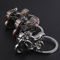 Schlüsselanhänger, Zinklegierung, mit Eisen Ring, Motorrad, plattiert, keine, frei von Blei & Kadmium, 35x23x12.50mm, Bohrung:ca. 25mm, verkauft von Strang