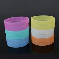 Silikon Armbänder, glänzend, keine, frei von Nickel, Blei & Kadmium, 12x2mm, verkauft per 7.9 ZollInch Strang