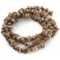 Bild Jaspis Perlen, Klumpen, 5-8mm, Bohrung:ca. 1.5mm, ca. 120PCs/Strang, verkauft per ca. 31 ZollInch Strang
