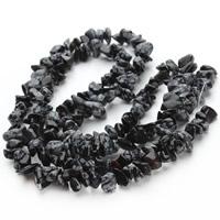 Schneeflocke Obsidian, Klumpen, 5-8mm, Bohrung:ca. 1.5mm, ca. 120PCs/Strang, verkauft per ca. 31 ZollInch Strang