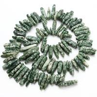 Grüner Tupfen Stein Perlen, grüner Punkt Stein, Klumpen, 8-12mm, Bohrung:ca. 1.5mm, ca. 60PCs/Strang, verkauft per ca. 15.5 ZollInch Strang