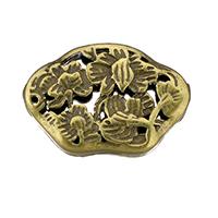 Messing hohle Perlen, antike Bronzefarbe plattiert, frei von Nickel, Blei & Kadmium, 18x12.50x5mm, Bohrung:ca. 1.5mm, 30PCs/Menge, verkauft von Menge