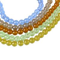 Runde Kristallperlen, Kristall, mehrere Farben vorhanden, 8mm, Bohrung:ca. 1mm, Länge:ca. 12 ZollInch, 10SträngeStrang/Tasche, ca. 42PCs/Strang, verkauft von Tasche