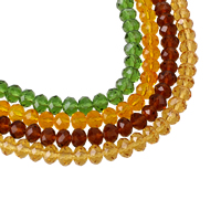 Rondell Kristallperlen, Kristall, facettierte, mehrere Farben vorhanden, 8x6mm, Bohrung:ca. 1mm, Länge:ca. 16.5 ZollInch, 10SträngeStrang/Tasche, ca. 73PCs/Strang, verkauft von Tasche