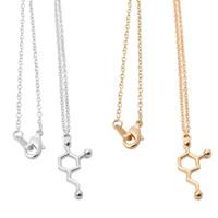 Messing Halskette, Chemie Molecular, plattiert, Oval-Kette, keine, frei von Nickel, Blei & Kadmium, 450mm, verkauft per ca. 17.5 ZollInch Strang