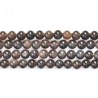 Schwarze Obsidian Perlen, Schwarzer Obsidian, rund, verschiedene Größen vorhanden, verkauft von Strang