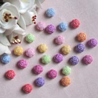 Chemische Wash Acryl Perlen, Blume, chemische-Waschanlagen, gemischte Farben, 5x8mm, Bohrung:ca. 1mm, ca. 3000PCs/Tasche, verkauft von Tasche