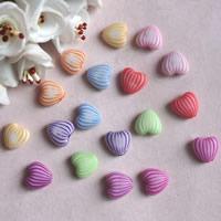 Chemische Wash Acryl Perlen, Herz, chemische-Waschanlagen, gemischte Farben, 5x10mm, Bohrung:ca. 1mm, ca. 1200PCs/Tasche, verkauft von Tasche