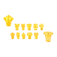 24K Gold Perlen, 24 Karat Gold, verschiedene Stile für Wahl, 11-13x11-13mm, Bohrung:ca. 1-2mm, verkauft von PC