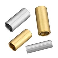 Edelstahl Magnetverschluss, Zylinder, plattiert, Handpoliert & verschiedene Größen vorhanden, keine, 10PCs/Menge, verkauft von Menge
