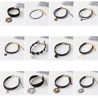 Spitze Armband, mit ABS-Kunststoff-Perlen & Lampwork & Glasperlen & Zinklegierung, mit Verlängerungskettchen von 5cm, plattiert, verschiedene Stile für Wahl & Emaille & facettierte, 160mm, verkauft per ca. 6 ZollInch Strang