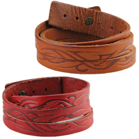 Unisex-Armband & Bangle, Kuhhaut, mit Zinklegierung, antike Bronzefarbe plattiert, einstellbar & 3-Strang, keine, frei von Nickel, Blei & Kadmium, 20mm, verkauft per ca. 16.9 ZollInch Strang