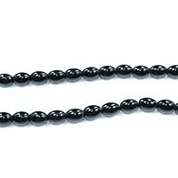Natürliche schwarze Achat Perlen, Schwarzer Achat, oval, verschiedene Größen vorhanden, Bohrung:ca. 0.5-2mm, Länge:ca. 16 ZollInch, verkauft von Menge