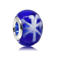 Lampwork Perlen European Stil, Rondell, handgemacht, Messing-Dual-Core ohne troll & großes Loch, 10x15mm, Bohrung:ca. 5mm, verkauft von PC