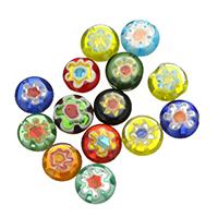 Inneren Blume-Lampwork-Beads, Lampwork, gemischt, 10x10x4mm, Bohrung:ca. 0.8mm, 10Taschen/Menge, 50PCs/Tasche, verkauft von Menge