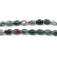 Natürliche Indian Achat Perlen, Indischer Achat, oval, 12x8.50x8.50mm, Bohrung:ca. 1.2mm, Länge:ca. 16 ZollInch, 5SträngeStrang/Menge, ca. 33PCs/Strang, verkauft von Menge