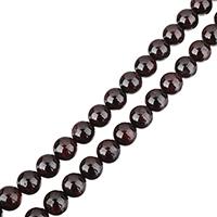 Natürlicher Granat Perlen, rund, verschiedene Größen vorhanden, Bohrung:ca. 0.5-1.5mm, verkauft per ca. 15 ZollInch Strang