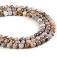 Natürliche verrückte Achat Perlen, Verrückter Achat, rund, verschiedene Größen vorhanden, Bohrung:ca. 1mm, verkauft per ca. 15.5 ZollInch Strang