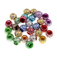 Acryl Schmuck Perlen, rund, gemischte Farben, 10x10.5mm, Bohrung:ca. 4mm, 200PCs/Tasche, verkauft von Tasche