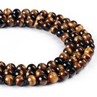 Tigerauge Perlen, rund, verschiedene Größen vorhanden, Bohrung:ca. 1mm, verkauft per ca. 15 ZollInch Strang