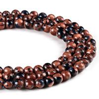 Goldsand Perle, rund, synthetisch, verschiedene Größen vorhanden, Bohrung:ca. 1mm, verkauft per ca. 15 ZollInch Strang