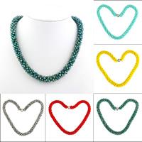 Harz Halskette, Edelstahl Schnappschließe, facettierte, keine, 3x5mm, verkauft per ca. 15 ZollInch Strang