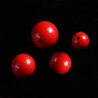 Zinnoberrot Perlen, Cinnabaris, rund, verschiedene Größen vorhanden, Bohrung:ca. 1-2mm, 60PCs/Tasche, verkauft von Tasche