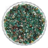 Natürliche grüne Achat Perlen, Grüner Achat, Klumpen, kein Loch, 7-11mm, 50G/Tasche, verkauft von Tasche