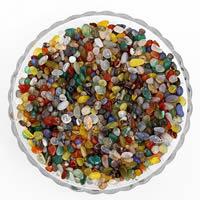 Mischedelstein Perlen, Edelstein, Klumpen, kein Loch, 7-11mm, 50G/Tasche, verkauft von Tasche