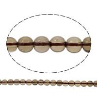 Natürliche graue Quarz Perlen, Grauer Quarz, rund, verschiedene Größen vorhanden, Bohrung:ca. 1mm, verkauft per ca. 15 ZollInch Strang