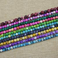 Mode Glasperlen, Glas, rund, verschiedene Größen vorhanden, keine, Länge:ca. 15 ZollInch, ca. 3SträngeStrang/Tasche, verkauft von Tasche